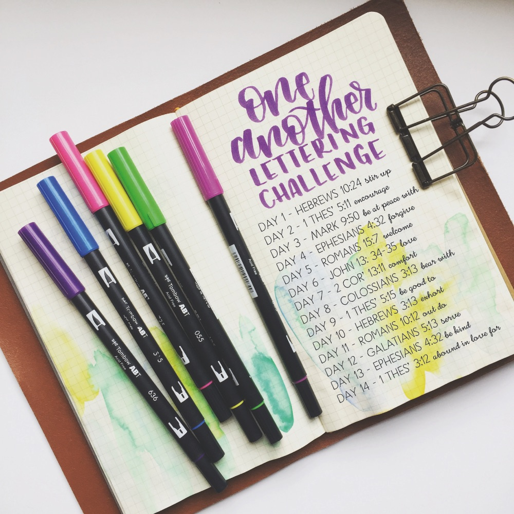 One Another Lettering Challenge
