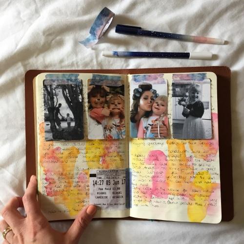 inkdori Traveler's Notebook from Grace & Salt ink |bujo inspiration, bujo ideas | Canon Selphy printer