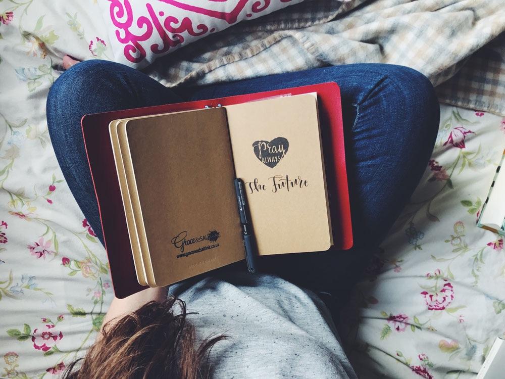 Natalie inkDori and Bible Journaling inspiration |Grace & Salt ink | Traveler's Notebook for Wedding Planning