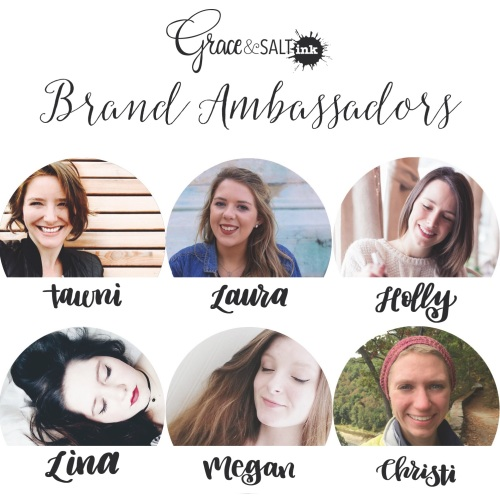 Grace & Salt ink Brand Ambassadors