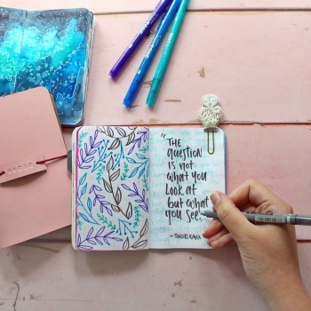 studio katie inkDori examples | hand lettering and drawing in your bullet journal | using a traveler's notebook | Grace & Salt ink