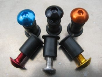 Screen Bolt Kit, in stainless steel and anodised coloured bolt options. 6 bolts, for Kawasaki ZX 10 R (ZX 1000)