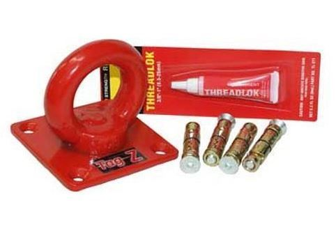 Ground Anchor With Fixing Kit- For Chains Up To 50 mm - red