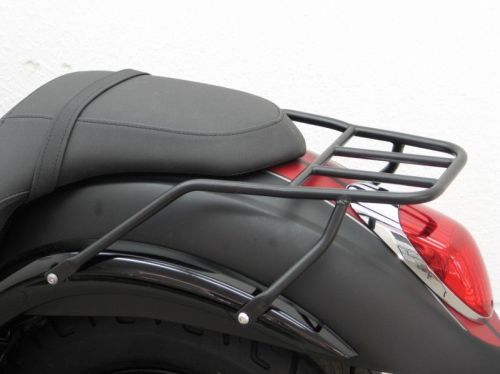 Luggage carrier for Kawasaki VN 900 Custom (VN900C) from 2007 onwards, blac