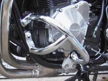 Engine bars, lower crash bars for Suzuki GSF 1200 Bandit from 1996- 2006 in chrome