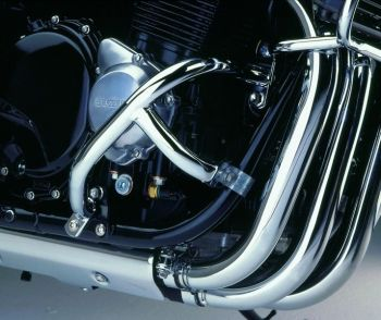 Engine bars, lower crash bars for Suzuki GSX 1400, (WVBN) 2001-2006 in chrome finish