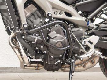 Engine Bars, Crash Bars for Yamaha MT 09, black, from 2013 onwards