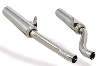 Marving, Italy, 2 in 2 exhaust system for Yamaha XJ 900 S Diversion, chrome plated steel