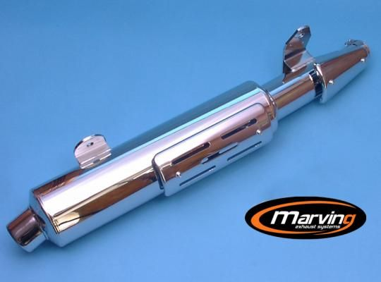 Marving Amacal Silencer in chrome and aluminium for Honda XRV 750 Africa Tw