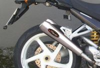 Marving Silencers in Racing Steel for Ducati Monster 750 from 1996- 1999, conical shape