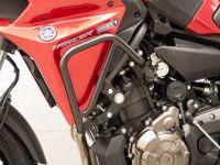 Engine Bars, Upper Crash Bars for Yamaha MT 07 Tracer 700, black, from 2016 onwards