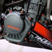 CNC machined Aluminium Engine Bolt kit for KTM Super Duke 1290 R ABS from 2014 onwards in various colours, race spec