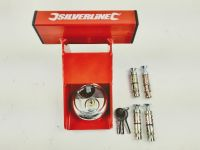 Garage Door Defender Heavy Duty with disc lock and 4 concrete anchor bolts