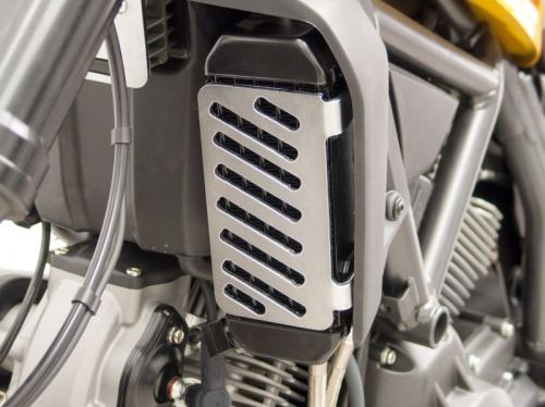 Oil Cooler Cover, Protector , stainless steel for Ducati Scrambler 800 Clas