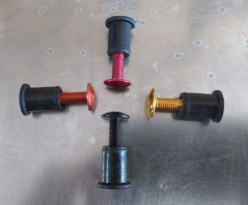 Screen Bolt Kit, in stainless steel and anodised coloured bolt options. 4 bolts, for Kawasaki Z 1000, 2003 onwards