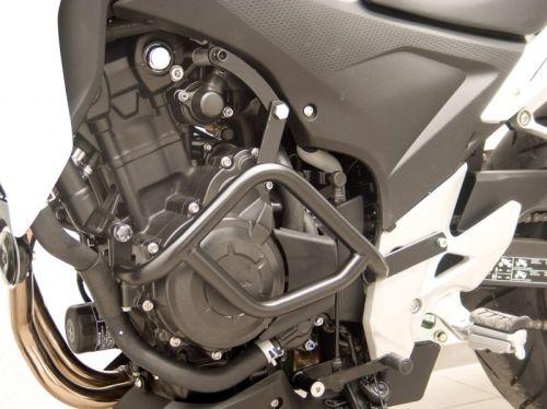 Engine bars, crash bars, black, for Honda CB 500 F and Honda CB 500 X, 2013