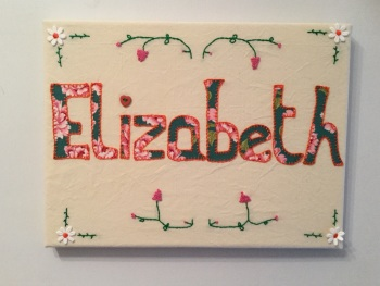 Name Plaque: Canvas Design