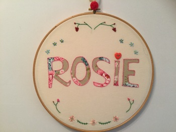 Name Plaque: Hoop Design