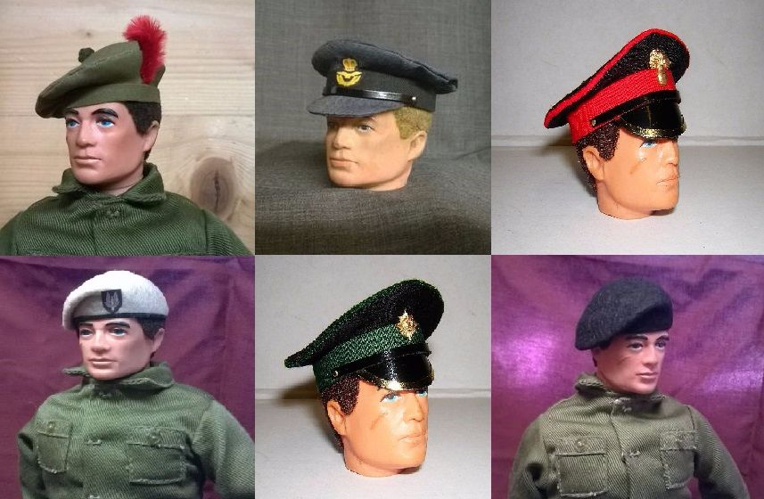 Banjoman Custom Berets & Caps - Vintage Action Man