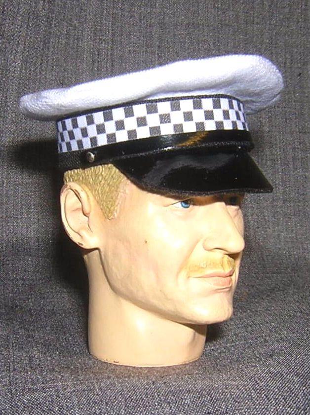 1//6 Scale British Police Hat