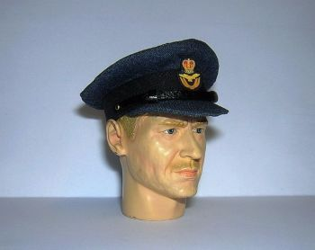 Banjoman custom made 1/6th Scale WW2 Royal Air Force Officer's Cap.