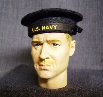Banjoman custom made 1/6th Scale WW2 U.S. Navy Seaman's Cap.