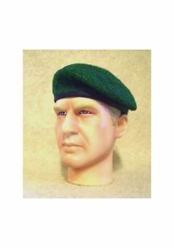 Banjoman 1:6 Scale Custom Made Beret - Green - French Style
