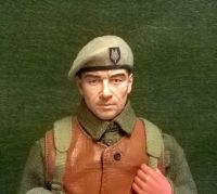 Banjoman 1:6 Scale Custom Made Beret - S.A.S. Beige With Patch