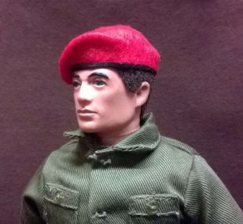 Banjoman 1:6 Scale Custom Made Beret For Vintage Action Man - Red