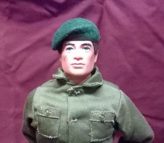 Banjoman 1:6 Scale Custom Made Beret For Vintage Action Man - Green