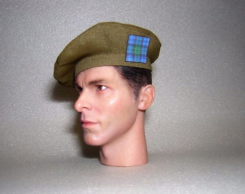 Banjoman 1:6 Scale Custom Made Tam O'Shanter - Khaki Green - Argylls