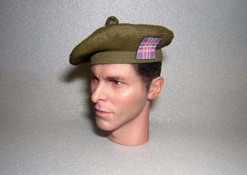 Banjoman 1:6 Scale Custom Made Tam O'Shanter - Khaki Green - Q.O.H.