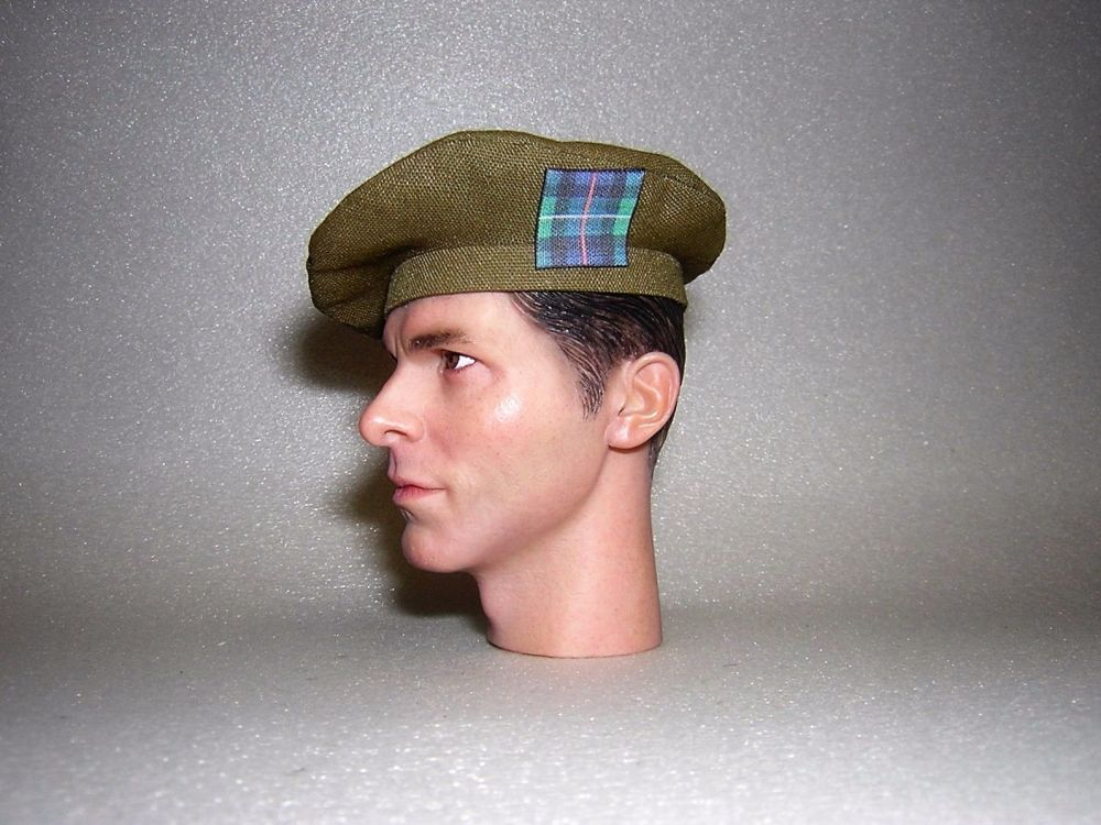 Banjoman 1:6 Scale Custom Made Tam O'Shanter - Khaki Green - R.H.F.