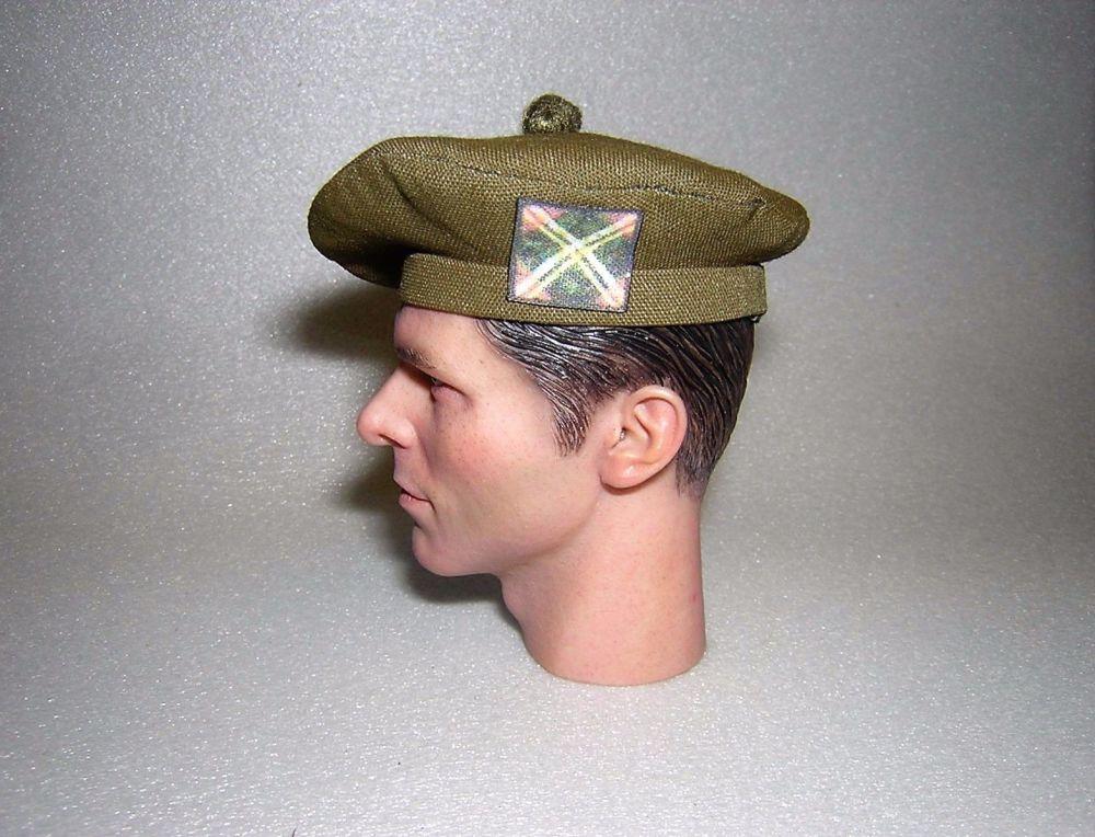 Banjoman 1:6 Scale Custom Tam O'Shanter - Khaki Green - The Royal Scots