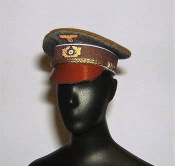 Banjoman custom made 1/6th Scale WW2 Adolf Hitler Dress Cap - Grey