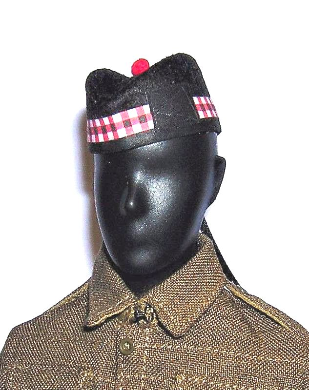 Banjoman 1:6 Scale Custom Made Glengarry Cap - Royal Scots