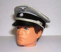 Banjoman custom made 1/6th Scale WW2 German Grey Panzer Cap For Vintage Action Man.