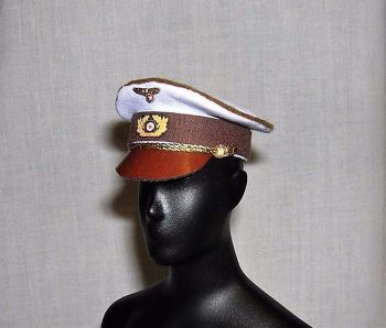 Banjoman custom made 1/6th Scale WW2 Adolf Hitler Dress Cap - Summer White