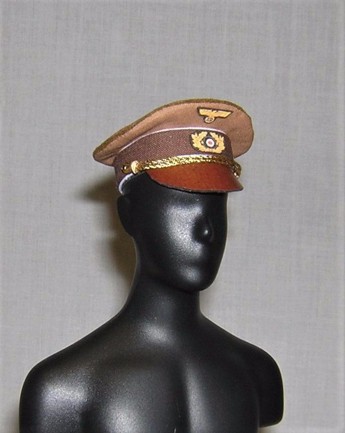 Banjoman custom made 1/6th Scale WW2 Adolf Hitler Dress Cap - Light Brown