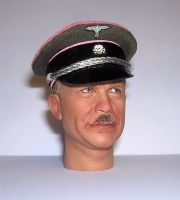 Banjoman custom made 1/6th Scale WW2 German Waffen SS Panzer Officer's Visor Cap.