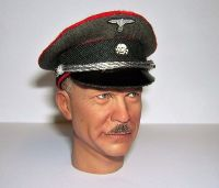 Banjoman custom made 1/6th Scale WW2 German Waffen SS Artillery Officer's Visor Cap.