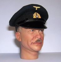 Banjoman custom made 1/6th Scale WW2 German Kriegsmarine Visor Cap - Navy Blue