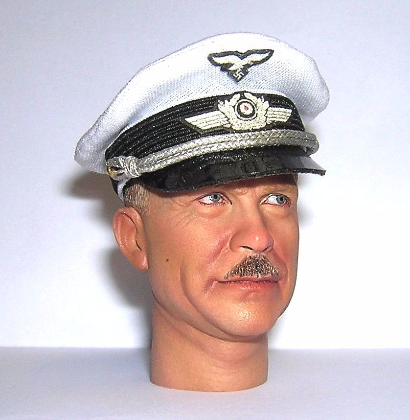 Banjoman custom made 1/6th Scale WW2 German Luftwaffe Officer's Summer Cap