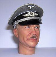 Banjoman custom made 1/6th Scale WW2 German Luftwaffe Officer's Grey Cap
