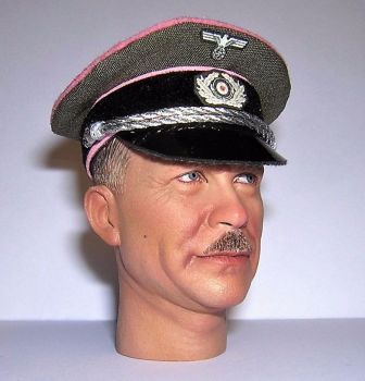 Banjoman custom made 1/6th Scale WW2 German Green Heer Panzer Officer's Visor Cap.