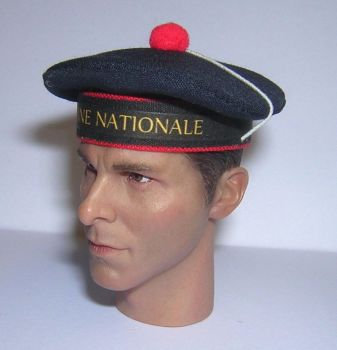 Banjoman custom made 1/6th Scale French Sailor's Cap - Marine Nationale.  Navy Blue.