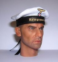 Banjoman 1:6 Scale Custom Made WW2 German Kriegsmarine Sailor's Cap - White