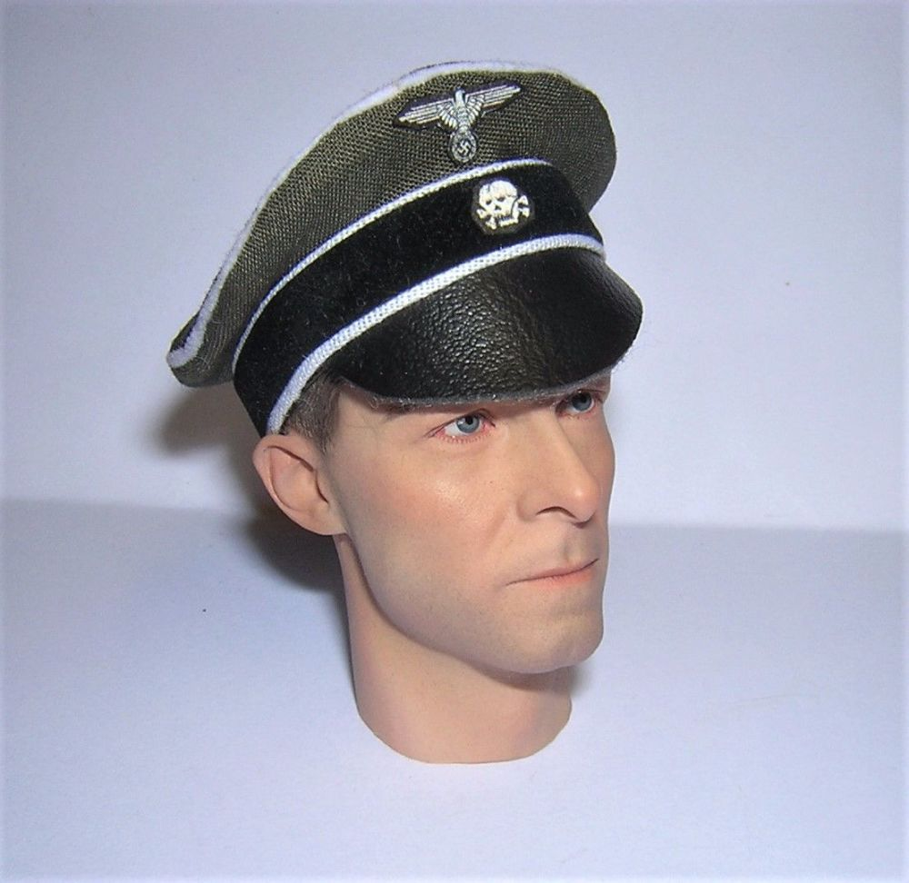 Banjoman custom made 1/6th Scale WW2 German SS Green Crusher Cap.