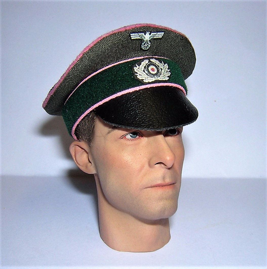 Banjoman custom made 1/6th Scale WW2 German Green Panzer Crusher Cap.