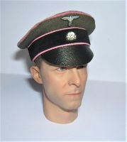 Banjoman custom made 1/6th Scale WW2 German Green Waffen SS Panzer Crusher Cap.
